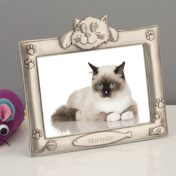 Personalised Antique Finish Cat Photo Frame   The Gift Experience