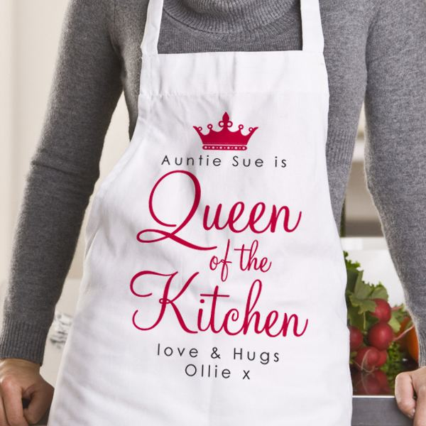 Good Christmas Presents For Mum Part - 42: Queen Of The Kitchen Personalised Apron