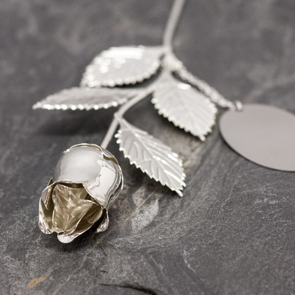 Return Gifts For 25th Wedding Anniversary: Personalised Silver Plated Rose