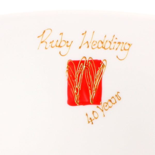 Ruby Wedding Anniversary Gift Experiences : Ruby Anniversary Signature Plate