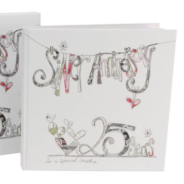 Silver Wedding Gift Ideas Uk : Silver Wedding Anniversary Scrapbook