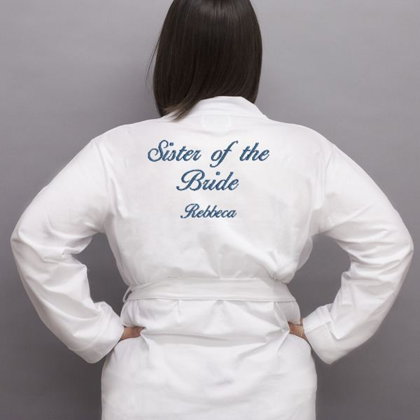 Personalised Embroidered Sister Of The Bride Dressing Gown | The ...