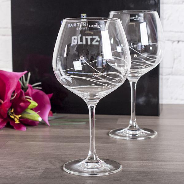 Personalised Dartington Glitz Gin Cocktail Glasses