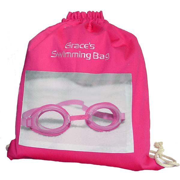 Personalised Drawstring Swimming Bag | The Gift Experience