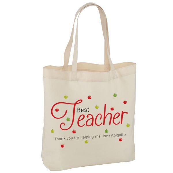 Personalised Best Teacher Tote Bag