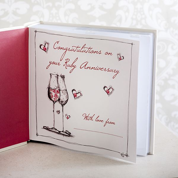 Ruby Wedding Anniversary Gift Experiences : Ruby Anniversary Photo Album