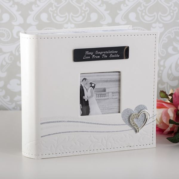 ... Wedding Day Silver Heart Photo Album The Gift Experience
