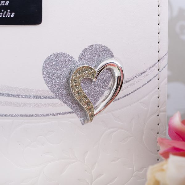 Personalised Wedding Day Silver Heart Guest Book The Gift Experience