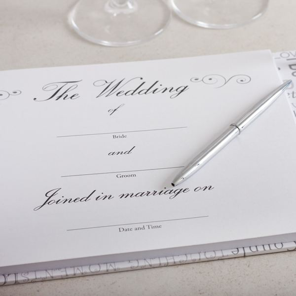 Wedding Gift Experience Days : Wedding Day Guest Book