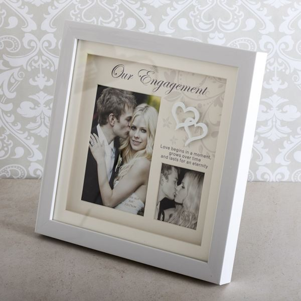 our engagement double photo frame - Engagement Photo Frame