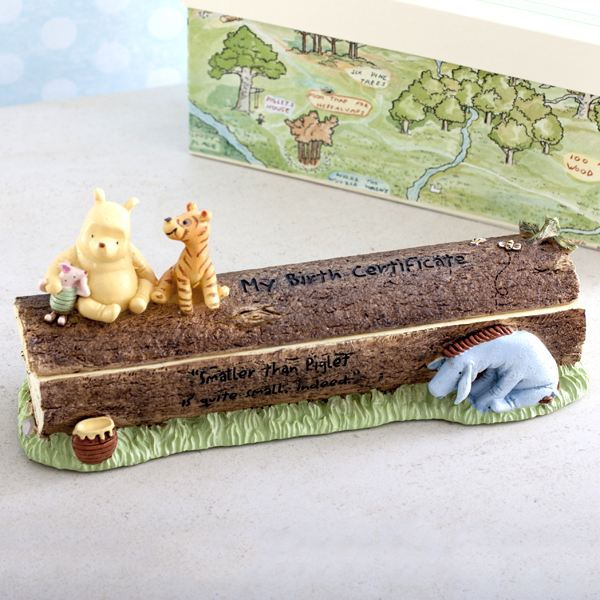 Disney Class Pooh Heritage Birth Certificate Holder | The Gift ...