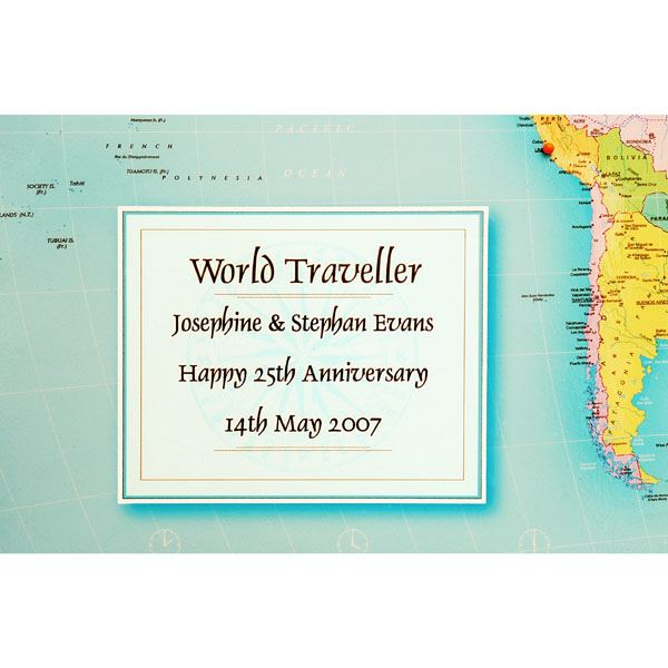 Personalised World Traveller Map The Gift Experience