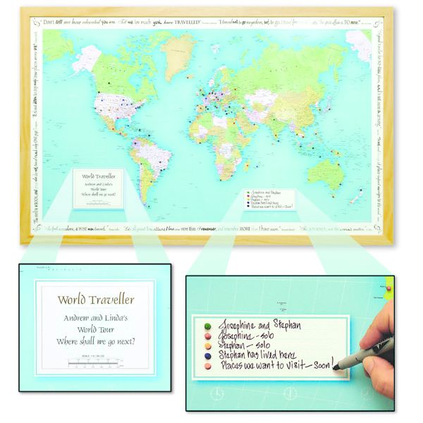 Personalised World Traveller Map – Personalized World Traveler Map Set