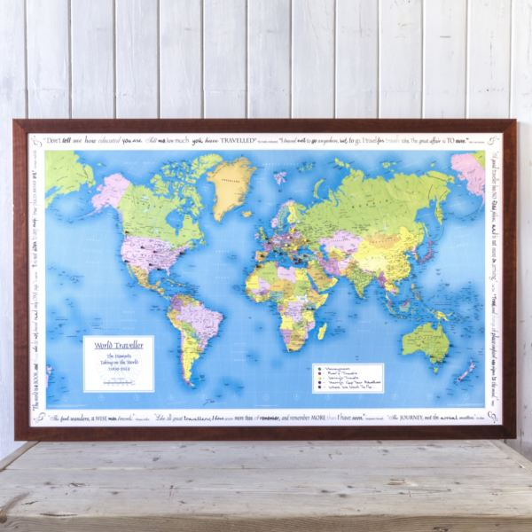 Personalised world map jigsaw puzzle the gift experience personalised world map jigsaw puzzle your year your world gumiabroncs Images