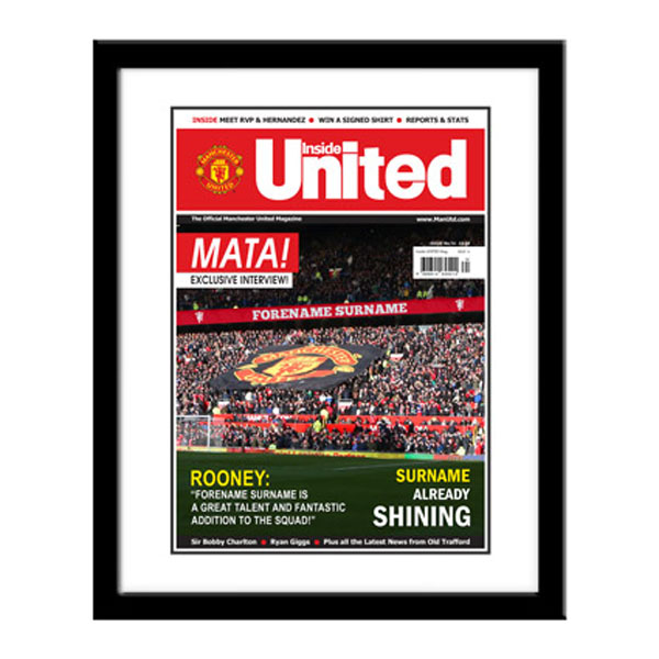 Personalised Manchester United Magazine Cover - Framed