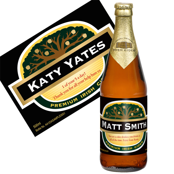 Personalised Bottle Of Cider - Cider Gifts