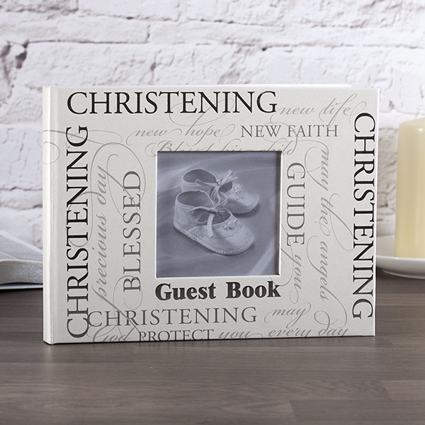 Christening Script Guest Book - Christening Gifts