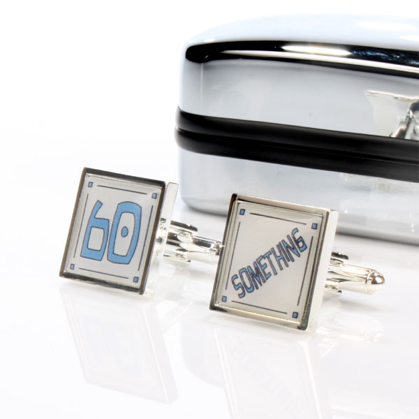 60 Something Cufflinks in Personalised Box - Cufflinks Gifts