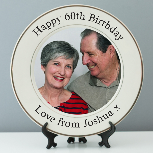 Personalised 60th Birthday Photo Plate