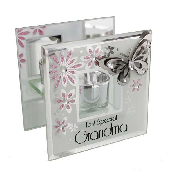 Grandma Butterfly Tea Light Holder - Grandma Gifts