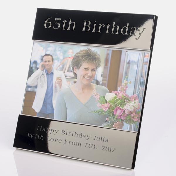 Engraved 65th Birthday Photo Frame