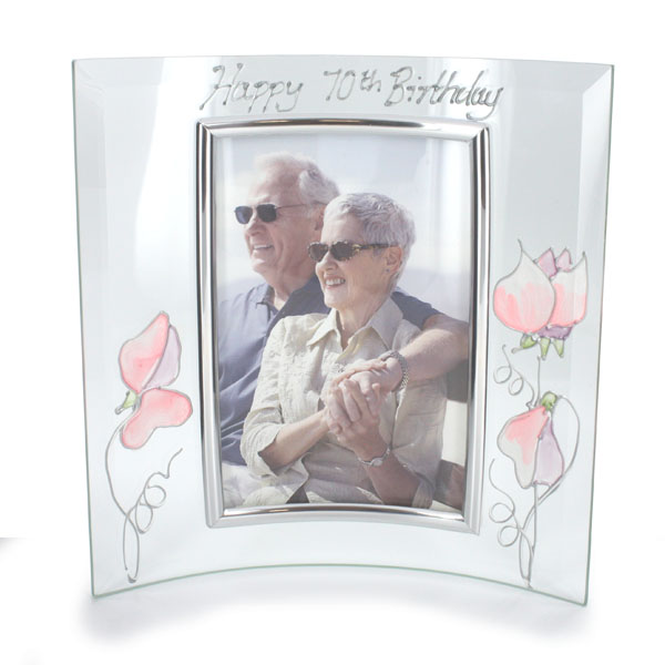 70th Birthday Sweetpea Photo Frame - 70th Birthday Gifts