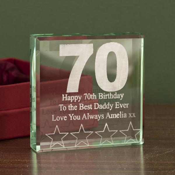 70th Birthday Keepsake - 70th Birthday Gifts