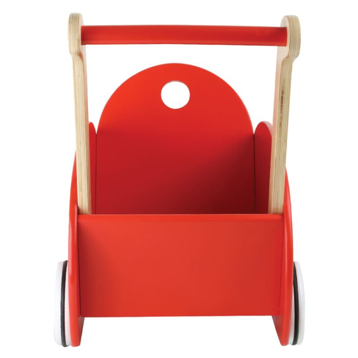 Personalised Wooden Red Doll´s Pram product image