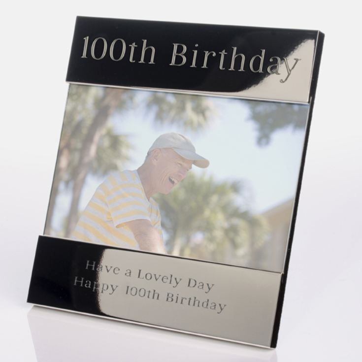 Engraved 100th Birthday Photo Frame product image