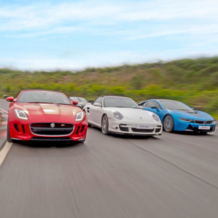 Triple Supercar Driving Blast with Free High Speed Passenger Ride product image