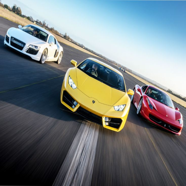Triple Supercar Driving Blast With Free High Speed
