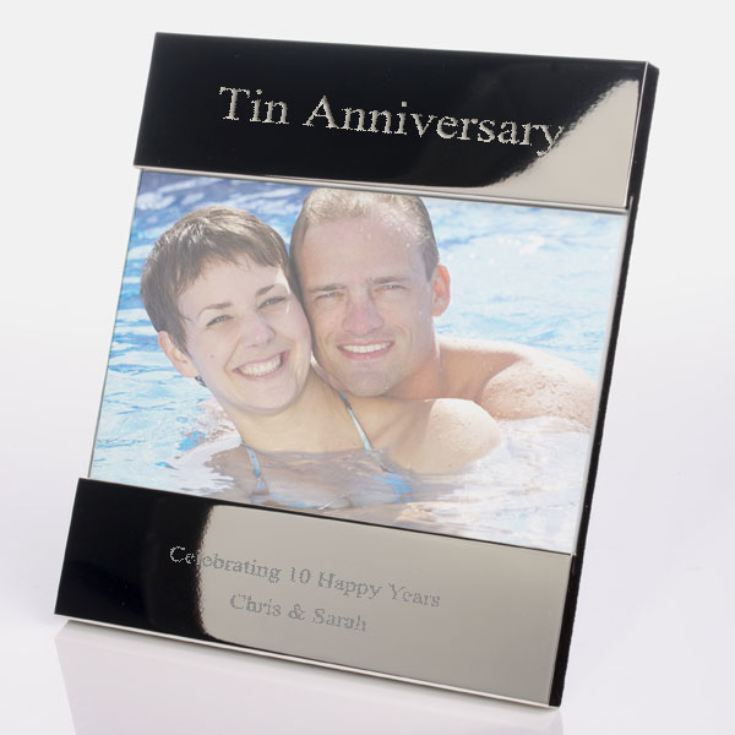 Engraved 10th (Tin) Anniversary Photo Frame product image