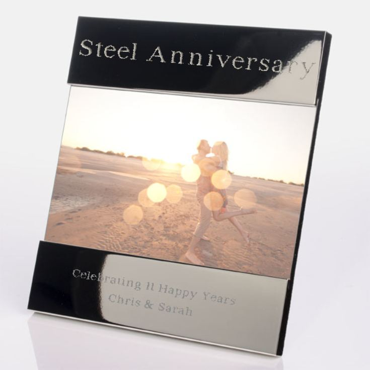 Engraved 11th (Steel) Anniversary Photo Frame product image