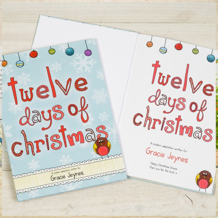 12 Days of Christmas Personalised Book product image