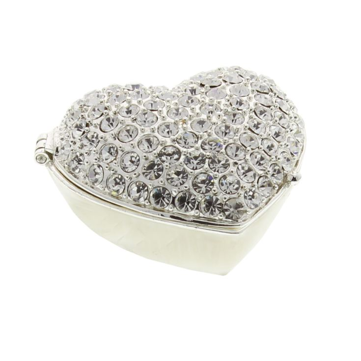 Sophia Silverplated Trinket Box - Crystal Heart product image