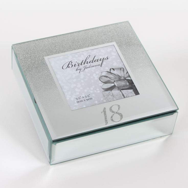 Birthdays by Juliana '18' Glitter Mirror Trinket Box product image