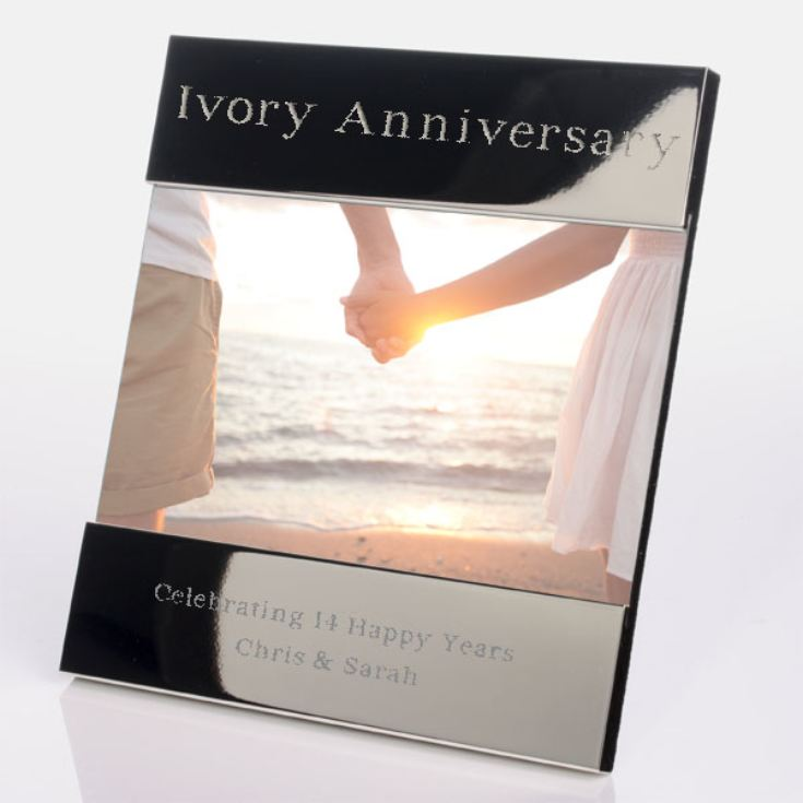 Engraved 14th (Ivory) Anniversary Photo Frame product image