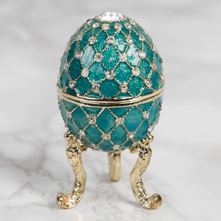 Treasured Trinkets Figurine - Small Turquoise Fabergé Egg product image