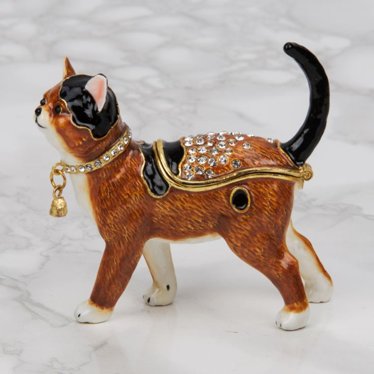 Treasured Trinkets - Brown and Black Cat Standing product image