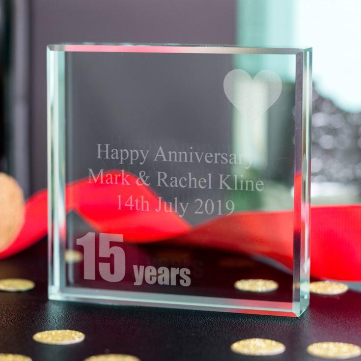 Crystal Gift Ideas 15th Wedding Anniversary: 15th (Crystal) Anniversary Keepsake