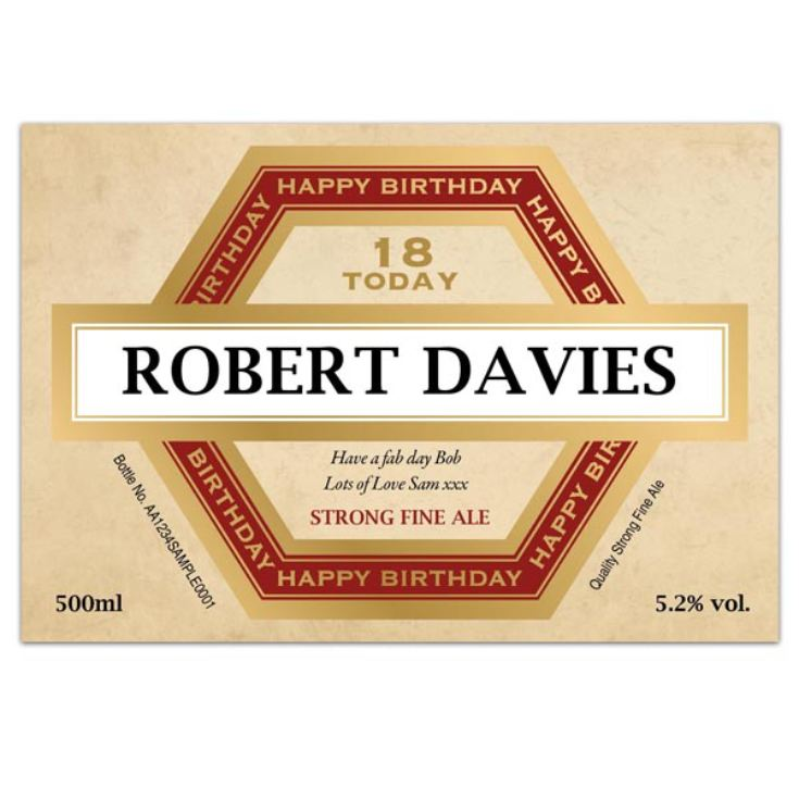 18th Birthday Personalised Bottle of Beer product image