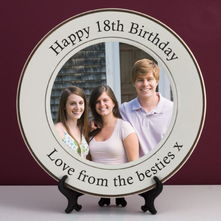 Personalised 18th Birthday Photo Plate product image