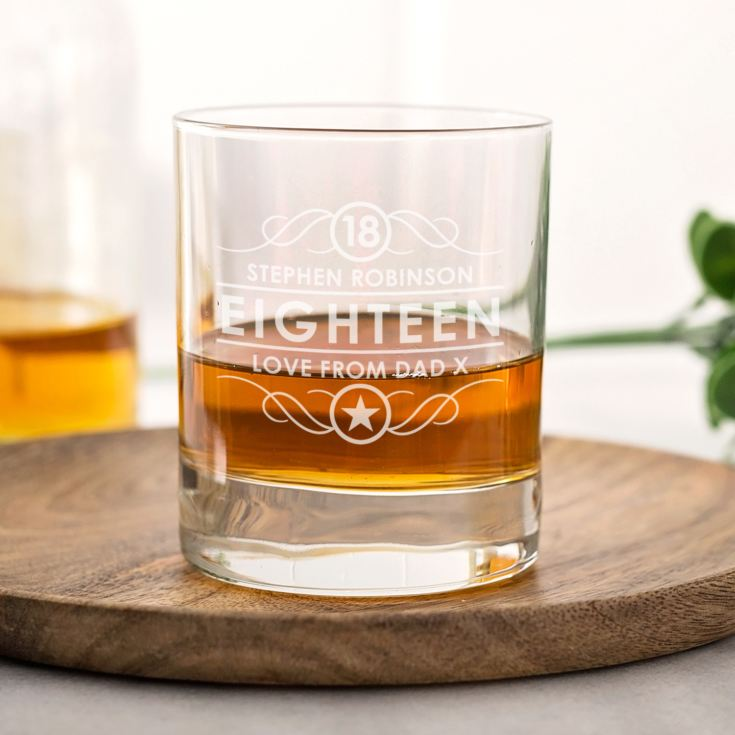 Personalised 18th Birthday Whisky Glass product image