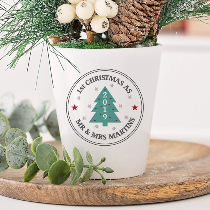 Personalised Christmas Tree Plant Pot product image
