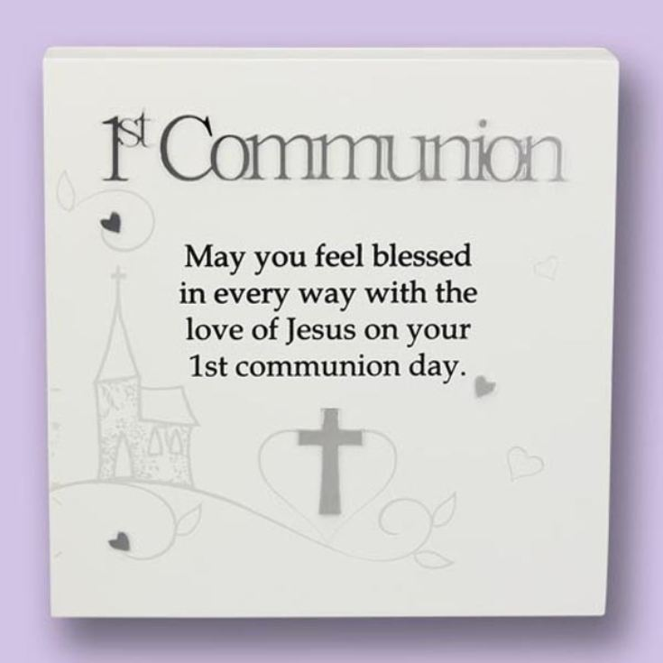 1st Communion Sentiment Art Block product image