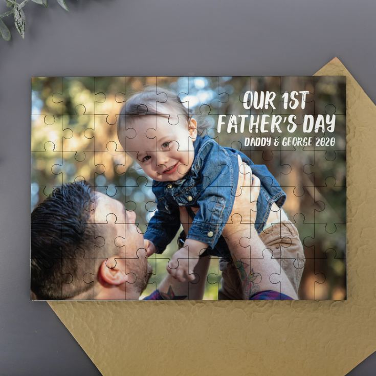 Personalised Our 1st Father's Day Photo Upload Jigsaw Puzzle product image