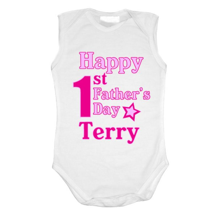 First Father's Day Personalised Baby Grow product image