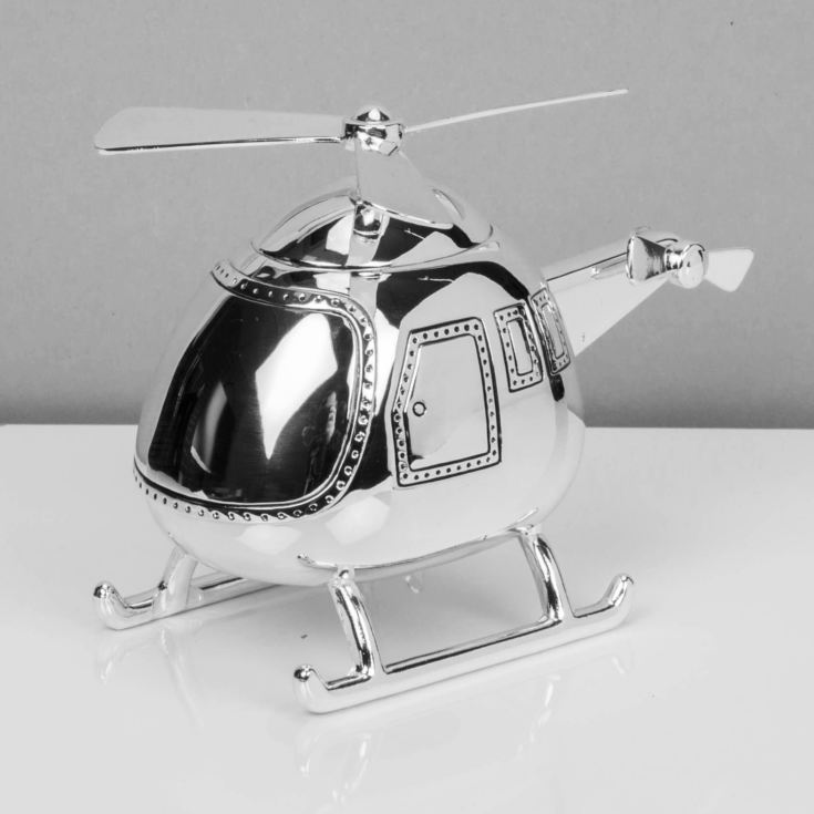 BAMBINO BY JULIANA® Silver Plated Helicopter Money Box product image