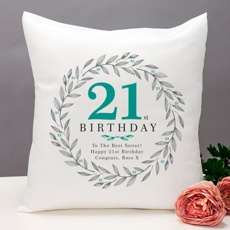 Personalised 21st Birthday Cushion product image