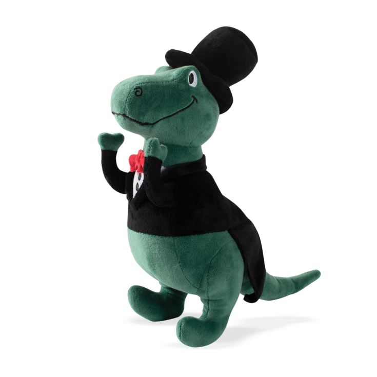 FRINGE T-Rex Wearing A Tuxedo & Top Hat Squeaky Dog Toy product image
